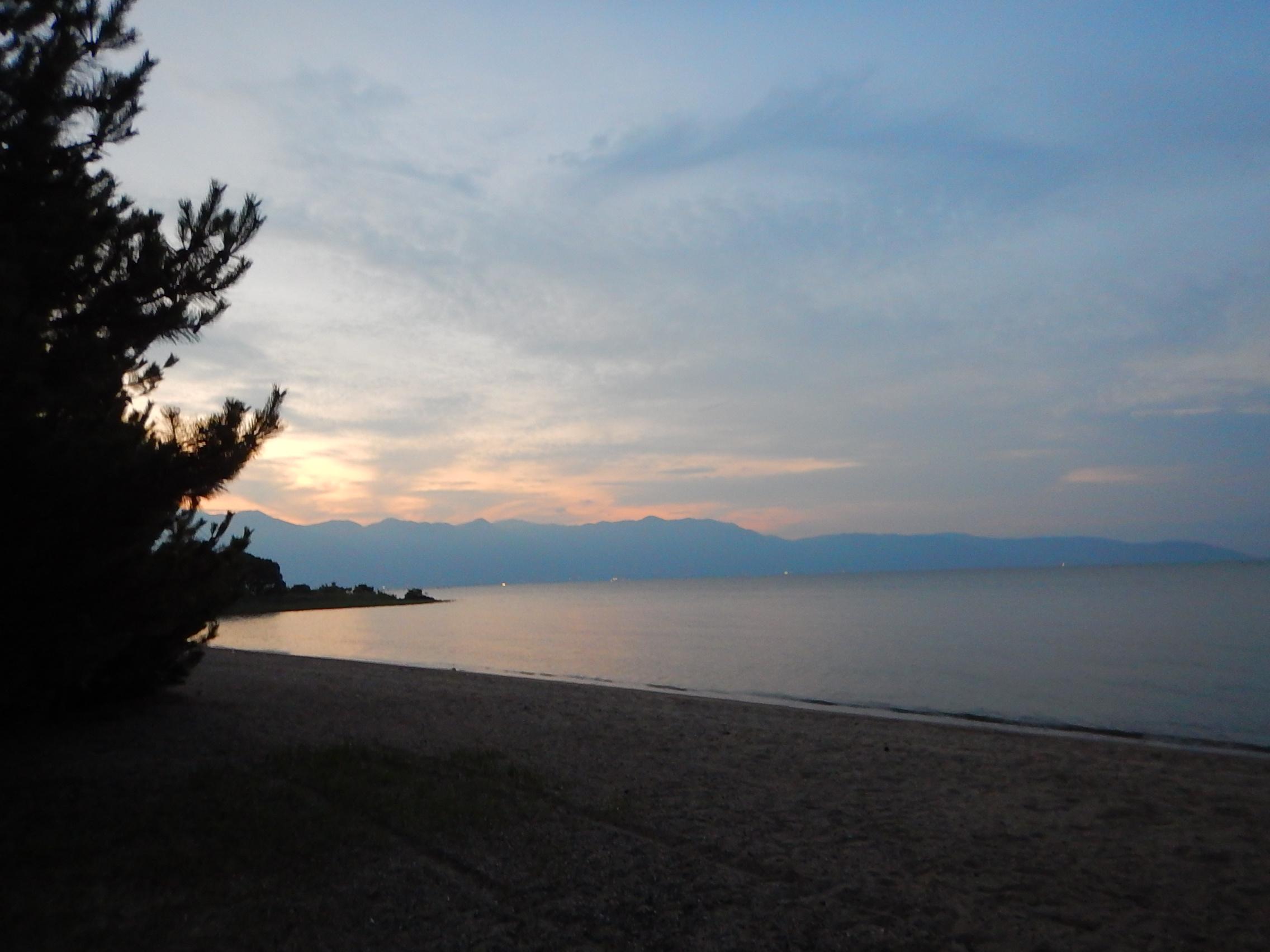 夕方の琵琶湖も素敵