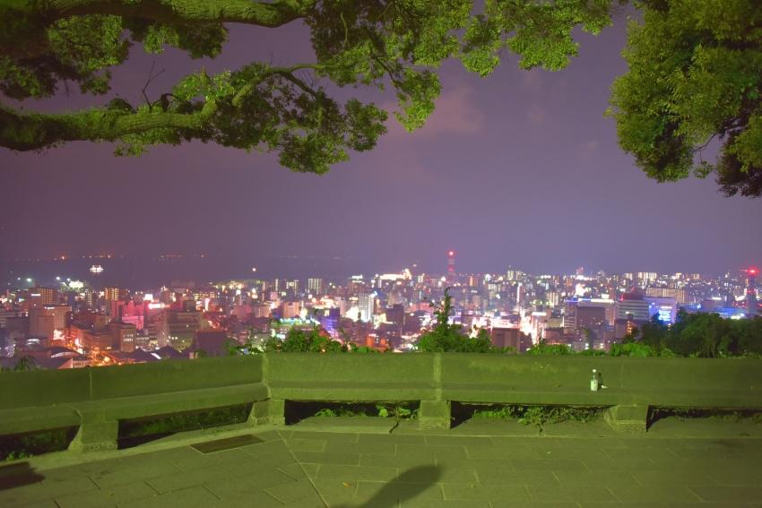 鹿児島の夜景は近かった