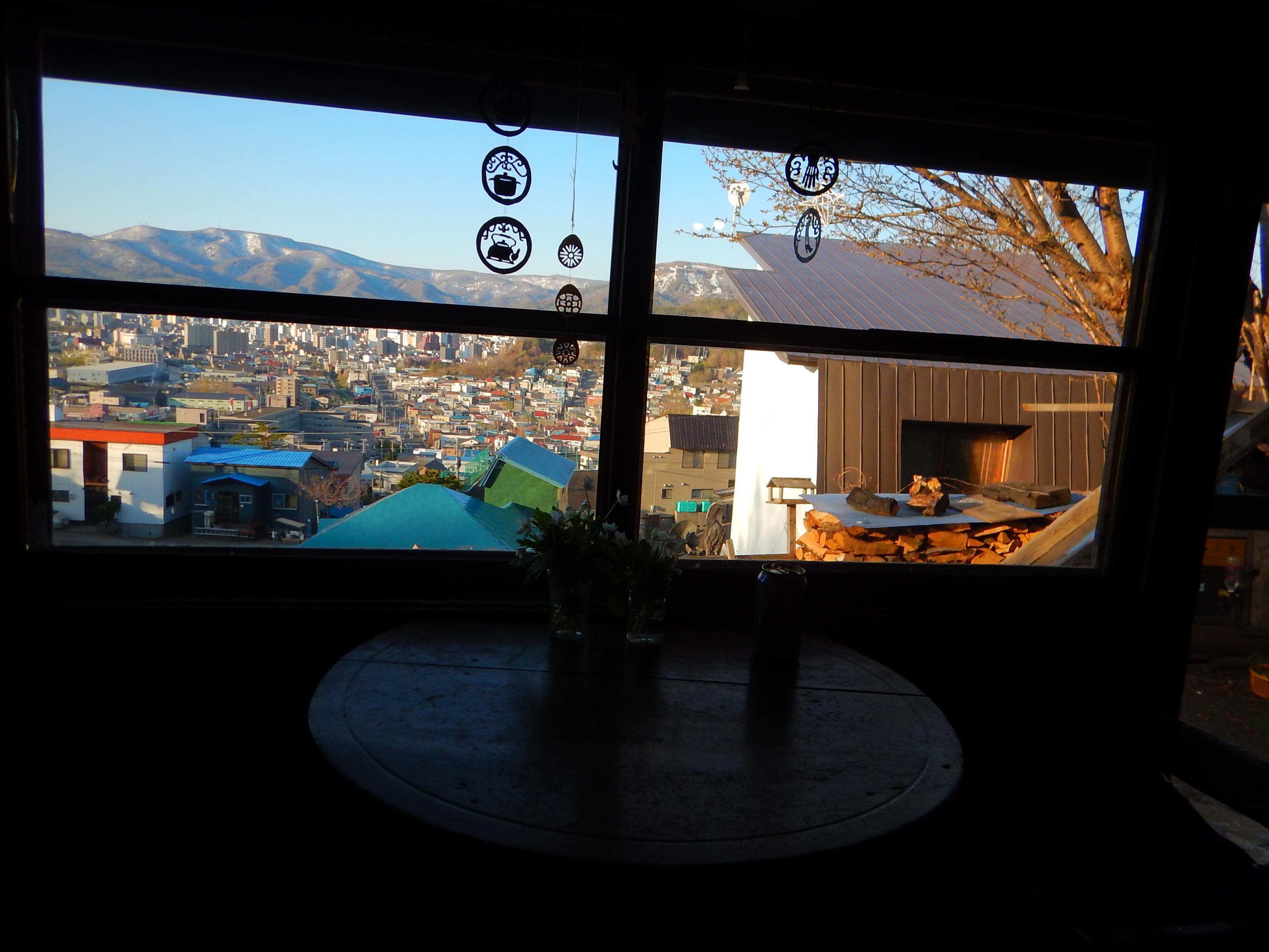 小樽の街が見下ろせます