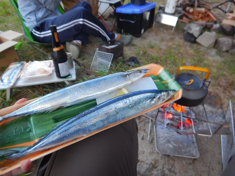 私は秋刀魚水洗いして塩を振りかけた( ^ω^)