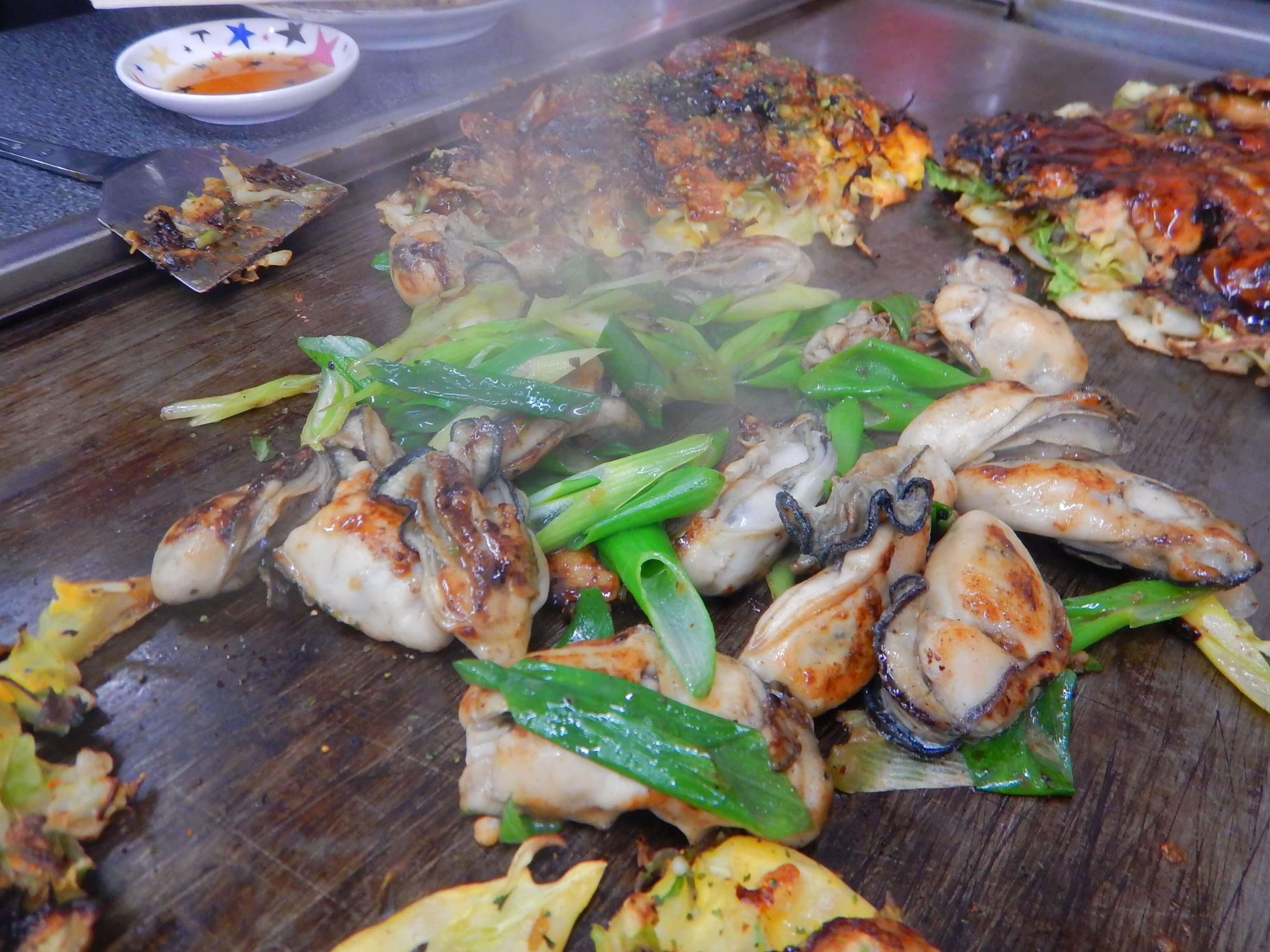 牡蠣の鉄板焼き