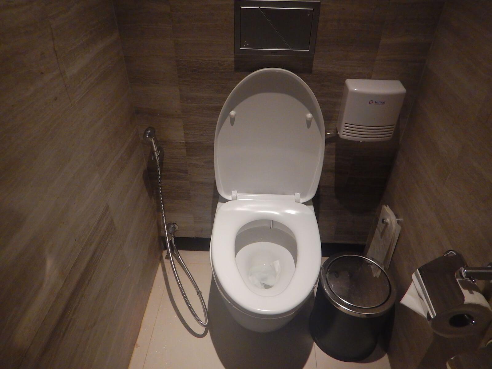 とても綺麗なタイ式トイレ